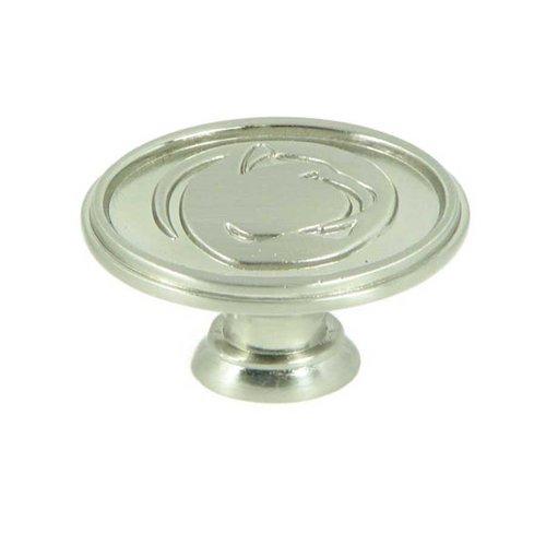 Stone Mill Hardware Collegiate 1-1/2 Inch Diameter Satin Nickel Cabinet Knob CL81097-SN-PSU