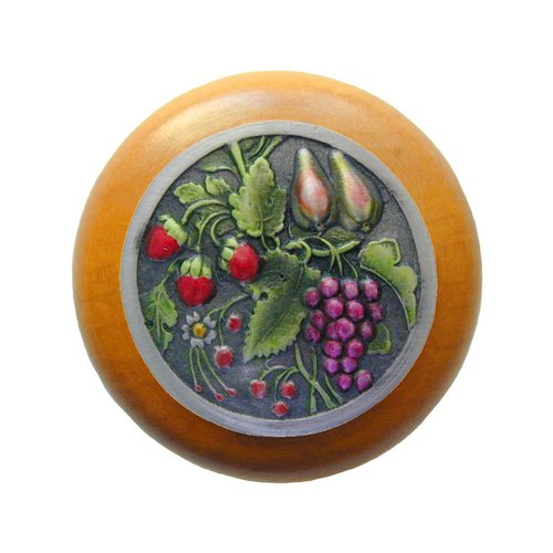 Notting Hill Tuscan 1-1/2 Inch Diameter Pewter Hand Tinted Cabinet Knob NHW-713M-PHT