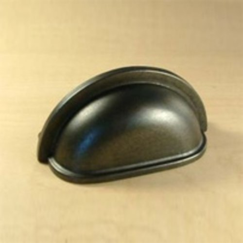 Milan 3 Inch Center to Center Gun Metal Cabinet Cup Pull <small>(#28443-GM)</small>