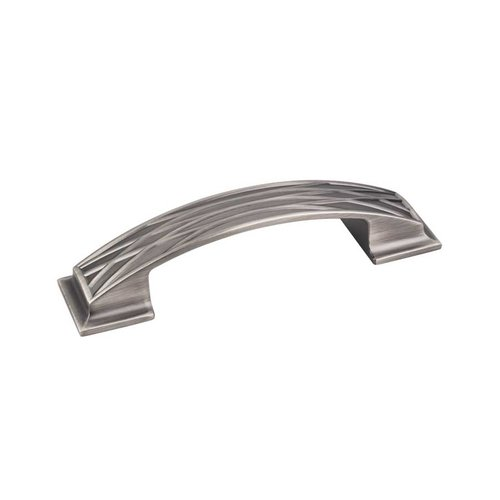 Aberdeen 3-3/4 Inch Center to Center Brushed Pewter Cabinet Pull <small>(#535-96BNBDL)</small>
