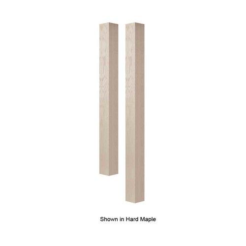 """Brown Wood 4"""" Square Bar Column Unfinished Alder 01634010AL1"""