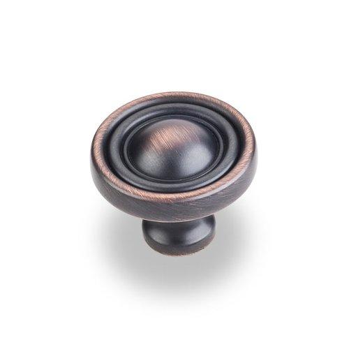 Jeffrey Alexander Bella 1-3/8 Inch Diameter Dark Brushed Antique Copper Cabinet Knob 818DBAC
