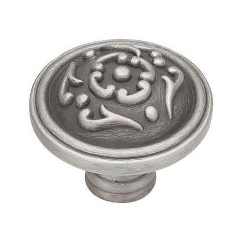 Liberty Hardware French Romantics 1-1/2 Inch Diameter Brushed Satin Pewter Cabinet Knob PN1510-BSP-C