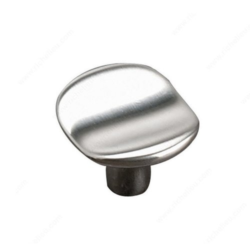 Geometric 1-9/16 Inch Diameter Brushed Nickel Cabinet Knob <small>(#61632740195)</small>