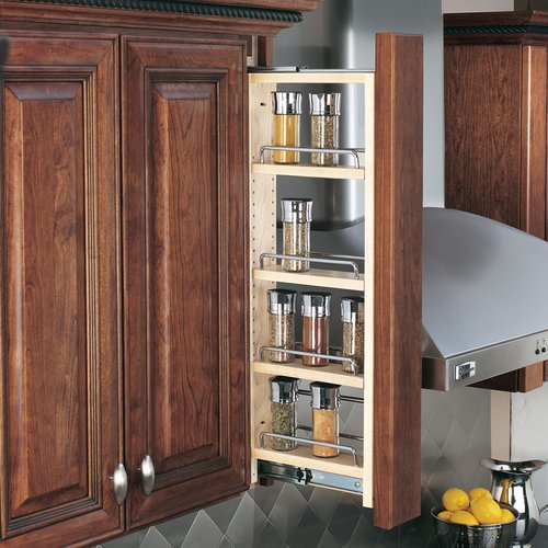 "Rev-A-Shelf 432 Tall Wall Filler 6"" Wood 432-WF42-6C"