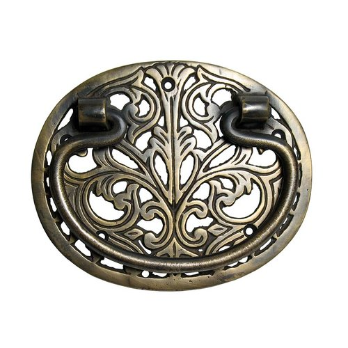 Gado Gado Bail Pulls 3-5/8 Inch Center to Center Unlacquered Antique Brass Cabinet Bail Pull HBA2010