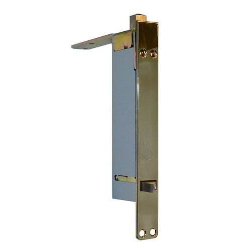 Don-Jo UL Rated Automatic Flush Bolt For Wood Doors Bright Brass 1562-605