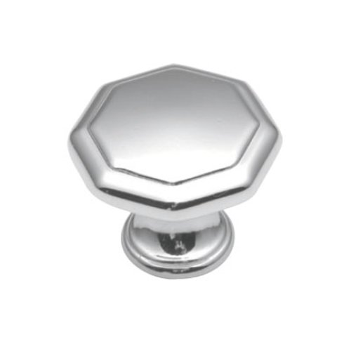 Hickory Hardware 1-1/8 Inch Diameter Polished Chrome Cabinet Knob P14004-26