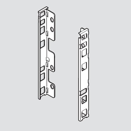 Blum Legrabox C Rear Fixing Bracket Set Left/Right Orion Gray ZB7C000S