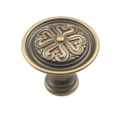 Century Hardware Iris 1-3/8 Inch Diameter Antique Bronze Copper Cabinet Knob 28017-AZC