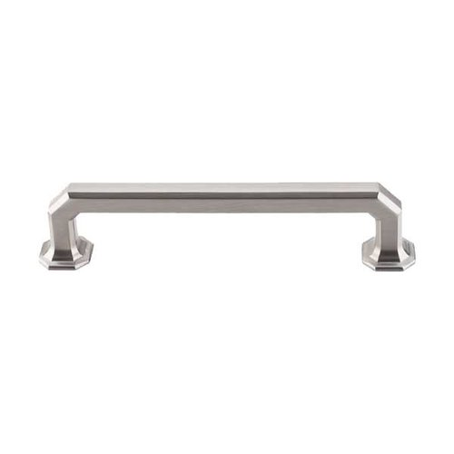 Top Knobs Chareau 5 Inch Center to Center Brushed Satin Nickel Cabinet Pull TK288BSN