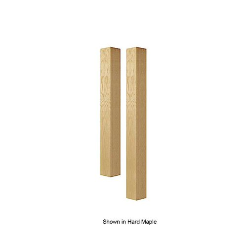 "Brown Wood 5"" Square Bar Column Unfinished Alder 01635010AL1"