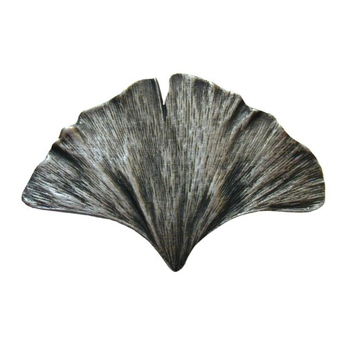 Notting Hill Leaves 2-1/8 Inch Diameter Antique Pewter Cabinet Knob NHK-147-AP
