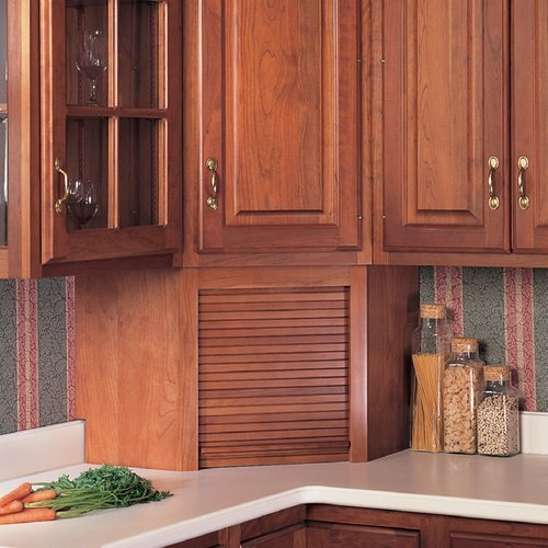 Omega National Products 24 inch Corner Appliance Garage - Red Oak A0100OUF1