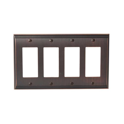 Candler Four Rocker Wall Plate Oil Rubbed Bronze <small>(#BP36507ORB)</small>
