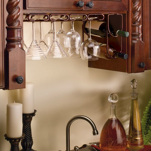 "Rev-A-Shelf Quad Stemware Holder 11"" D - Oil Rubbed Bronze 3450-11ORB"