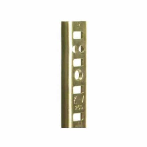 "Knape and Vogt KV #255 Steel Pilaster Strip-Brass 72"" 255 BR 72"