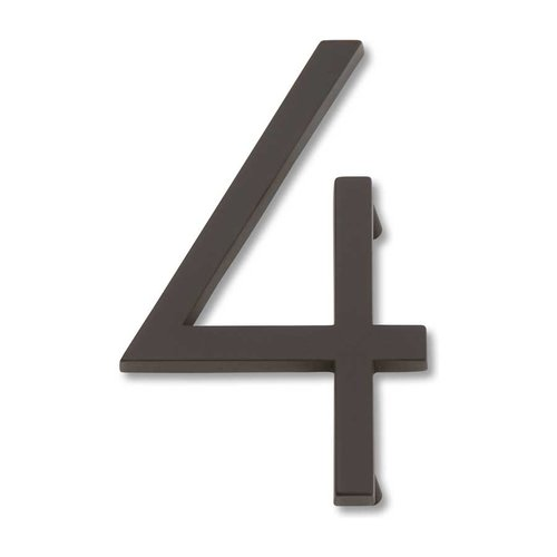 Modern Avalon House Number Four Aged Bronze <small>(#AVN4-O)</small>