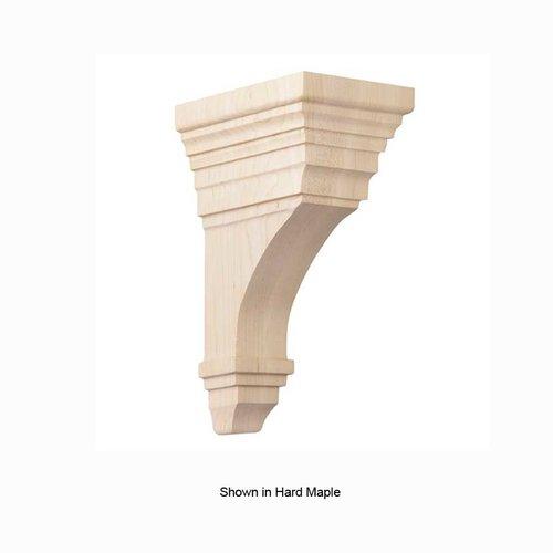 Brown Wood Medium Arts and Crafts Corbel Unfinished Alder 01607011AL1