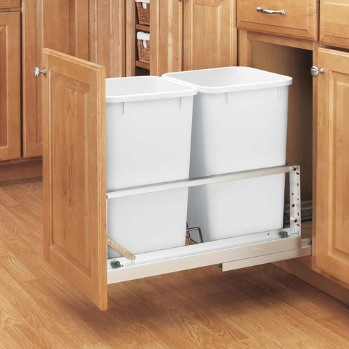 Double Trash Pullout 27 Quart-White <small>(#5349-1527DM-2)</small>