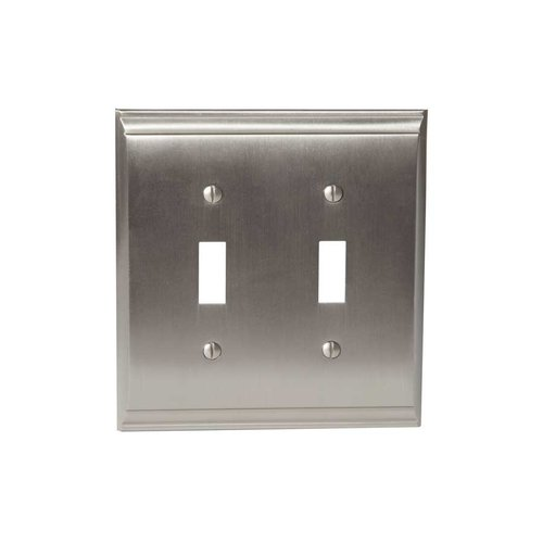 Amerock Candler Two Toggle Wall Plate Satin Nickel BP36501G10