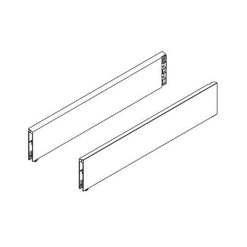 "Blum Tandembox BOXCAP Set 15-3/4"" L X 4"" H Stainless Steel Z37L390I.D"