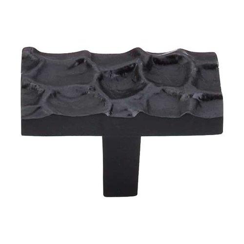 Top Knobs Cobblestone 1-7/8 Inch Diameter Coal Black Cabinet Knob TK303CB