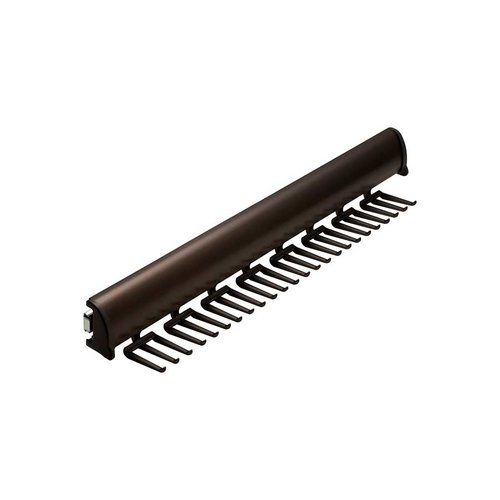 "Hafele Elite Tie Rack Dark Oil Rubbed Bronze 17-7/8"" L - 24 Hook 807.67.105"