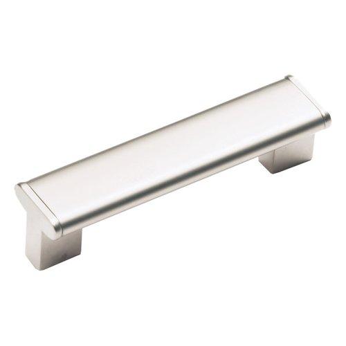 Schaub and Company Italian Designs Tenor 5-1/16 Inch Center to Center Satin Nickel Cabinet Pull 245-128-15