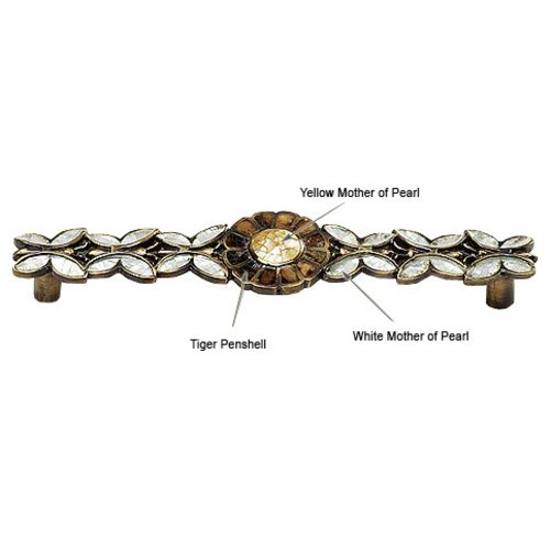 Schaub and Company Heirloom Treasures 5 Inch Center to Center Estate Dover/Penshell/Mother of Pearl Cabinet Pull 953P-ED