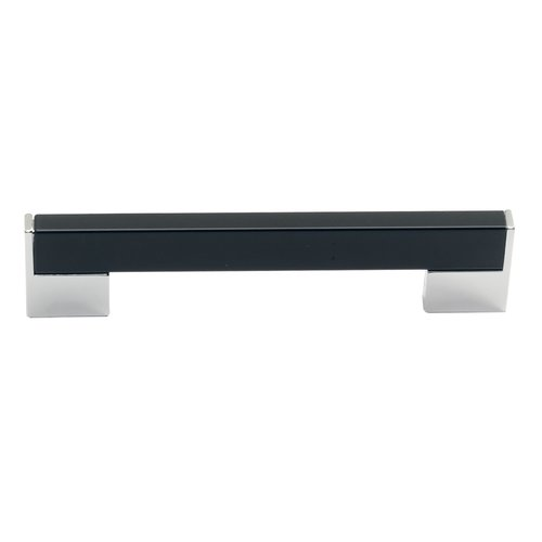 Schaub and Company Italian Designs Bistro 5-1/16 Inch Center to Center Espresso/Satin Nickel Cabinet Pull 246-128-15ES