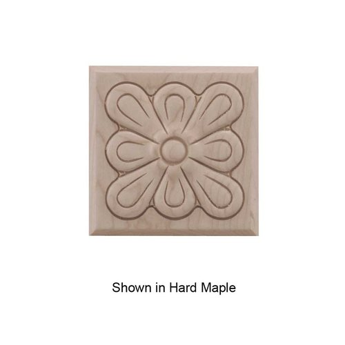 Brown Wood Small Fleur Tile Unfinished Walnut 01901015WL1