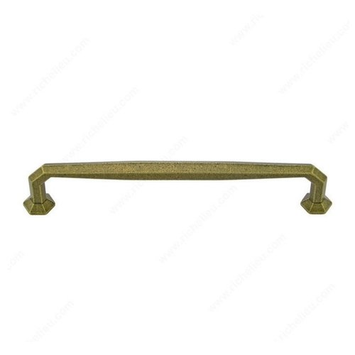 Richelieu Traditional Cast Iron 8 Inch Center to Center English Bronze Cabinet Pull 38878132