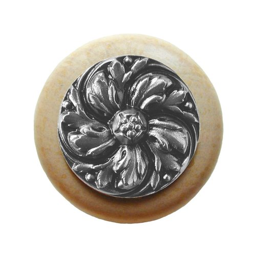Notting Hill English Garden 1-1/2 Inch Diameter Satin Nickel Cabinet Knob NHW-714N-SN