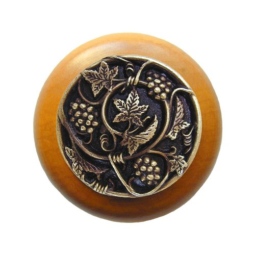 Notting Hill Tuscan 1-1/2 Inch Diameter Antique Brass Cabinet Knob NHW-729M-AB
