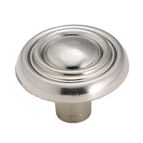 Amerock Brass & Sterling Traditions 1-3/16 Inch Diameter Sterling Nickel Cabinet Knob BP1306G9