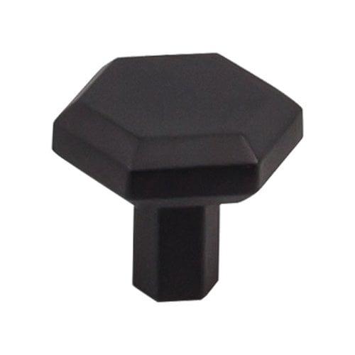 Top Knobs Serene 1-1/4 Inch Diameter Flat Black Cabinet Knob TK792BLK