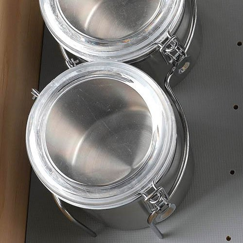 Rev-A-Shelf Stainless Steel Canister Set - Set Of 2 5DCH-2-1-CR