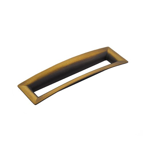 Schaub and Company Finestrino 6-5/16 Inch Center to Center Burnished Bronze Cabinet Pull 442-BRBZ