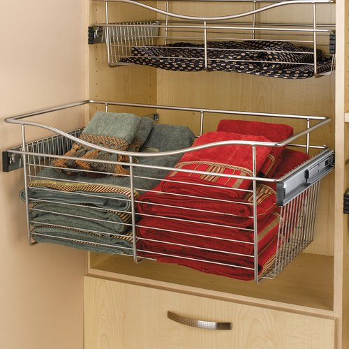 Pullout Wire Basket 24 inch W x 14 inch D x 11 inch H <small>(#CB-241411CR-5)</small>