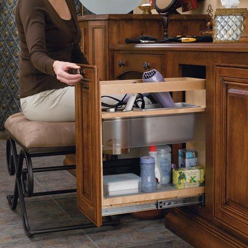 Rev-A-Shelf 8 inch Vanity Grooming Center 445-VCG20-8