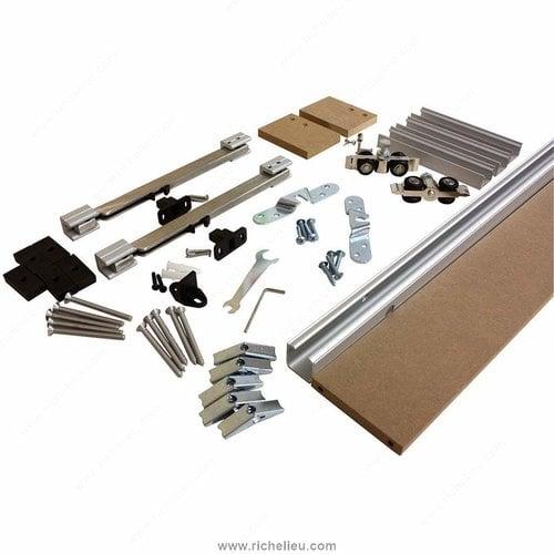 Richelieu Traditional Concealed Barn Door Hardware Set 2460502MDFPVC