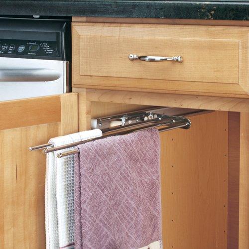 Rev-A-Shelf 3 Prong Towel Bar Chrome 563-47C