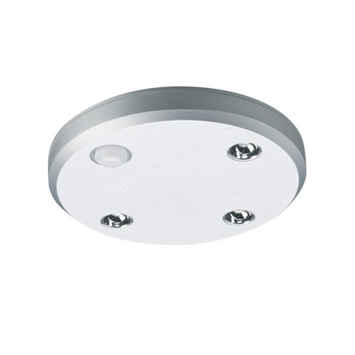 Hafele Loox LED Battery Operated Surface Mounted Spotlight Silver 833.87.012