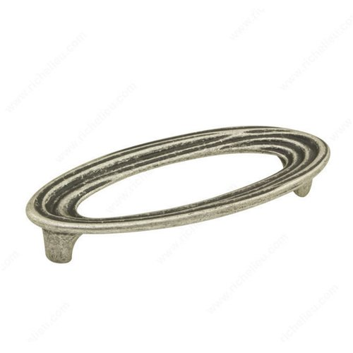 Striated 5-1/16 Inch Center to Center Faux Iron Cabinet Pull <small>(#161128904)</small>