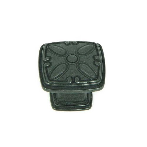 Stone Mill Hardware Milan 1-1/4 Inch Diameter Antique Black Cabinet Knob CP81093-BA