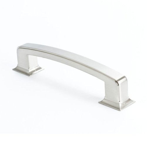 Berenson Hearthstone 6 Inch Center to Center Brushed Nickel Cabinet Pull 4076-1BPN-P