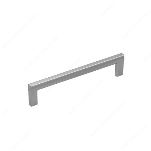 Sleek 6-5/16 Inch Center to Center Matte Chrome Cabinet Pull <small>(#21702160174)</small>