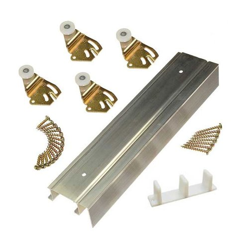 """Johnson Hardware 2200F Series Bypass Track Set for 2 Doors 72"""" 2200F721"""