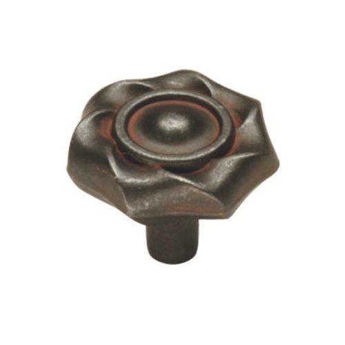 Charleston Blacksmith 1-1/4 Inch Diameter Rustic Iron Cabinet Knob <small>(#PA1312-RI)</small>